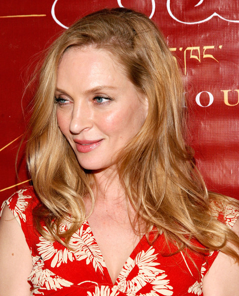 Uma Thurman Long Wavy Cut