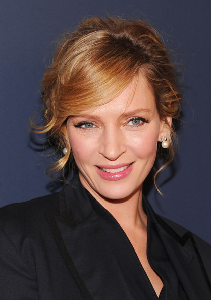 Uma Thurman Bobby Pinned updo