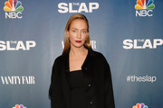 Uma Thurman Wool Coat