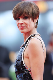 Micaela Ramazzotti looked trendy with her emo bangs at the Venice Film Festival premiere of 'Una Famiglia.'