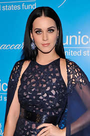 Katy's super-straight raven locks contributed to her dark and mysterious vibe at the 2012 UNICEF Snowflake Ball.