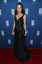 Michelle Yeoh was the picture of elegance in a beaded black gown at the UNDP Inaugural Global Goals Gala.