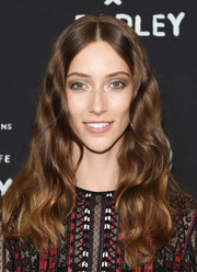 Alana Zimmer went boho with this center-parted wavy 'do at the United Nations x Parley for the Oceans launch.