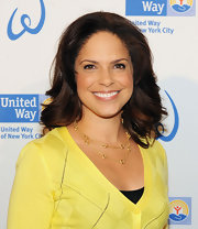 Soledad O'Brien wore her hair in sleek waves while attending the United Way of New York City's Women's Leadership Council.