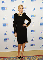 Mary Alice Stephenson looked artistic in this unique LBD for the Women's Leadership Council event.