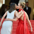 Alessandra Ambrosio and Rosie Huntington-Whiteley at the 2016 Cannes Film Festival