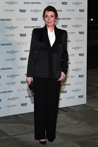 Olivia Colman attended the Up Next Gala wearing a simple black pantsuit.