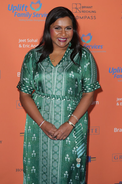 Mindy Kaling attended the 2019 Norma Jean benefit gala wearing a pair of classic gold bangles.