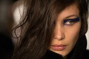 Bella Hadid looked majorly edgy with her angular smoky eye at the Versus fashion show.