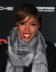 Kelly Rowland showed off deep saturated lips while attending the VEVO event. Her pout was the perfect match to her retro eyeliner.