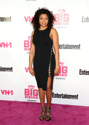 Taraji P. Henson added extra oomph with a pair of mirror-embellished sandals by Alaia.