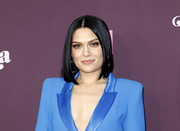 Jessie J sported a glossy center-parted lob at the 'Dear Mama: A Love Letter to Moms' screening.
