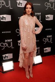 Florence Welch's fishtail dress was the perfect choice to show off her fierce nude pumps.