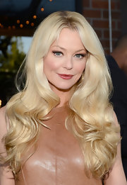 Charlotte Ross showed off her platinum locks with cascading waves.