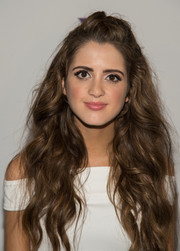 Laura Marano wore her long lush waves in a half-up style during the VH1 Save the Music event.