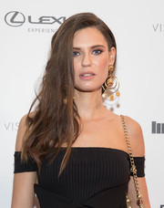 Bianca Balti wore her chestnut locks swept to the side when she attended the VIBES by Sports Illustrated Swimsuit 2017 launch.