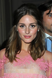 Olivia Palermo wore her ombre locks in a center-parted half-up do a la the '60s.