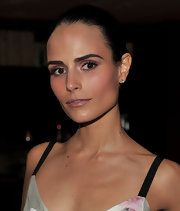 Jordana went for the sleek look while attending the Valentino party. Her slick bun was right off the Spring 2010 runways.