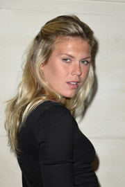 Alexandra Richards styled her blond locks into a messy-chic half-up 'do for the Valentino Couture fashion show.