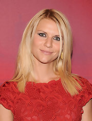 Claire Danes wore lots of smoky liner to dramatize her eyes at the Valentino Garavani Virtual Museum Launch Party.