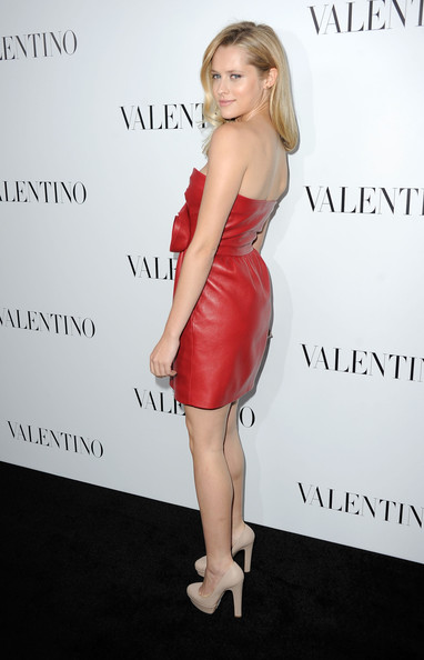 More Pics of Teresa Palmer Leather Dress (1 of 11) - Teresa Palmer Lookbook - StyleBistro