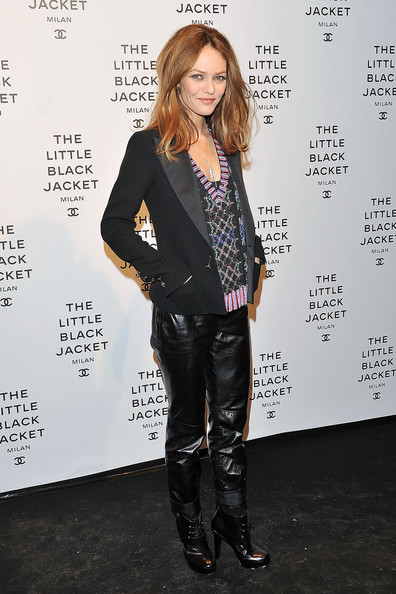 Vanessa Paradis Leather Pants