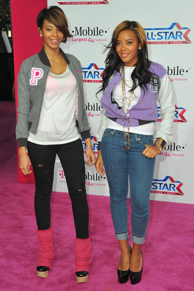 Actress Vanessa Simmons and Angela Simmons arrive to the T-Mobile    Vanessa Simmons Bob Hairstyles