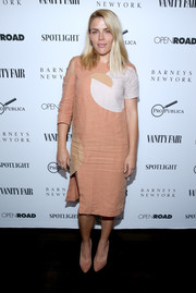 Busy Philipps was casual and cute in a color-block midi dress with a sleeve cutout during the 'Spotlight' private dinner.
