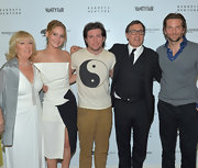 Matthew O. Russell opted for a more casual look with a Yin and Yang t-shirt while at the 'Silver Linings Playbook' celebration in Hollywood.