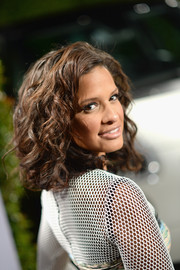 Rocsi Diaz looked fab with her mussed-up curls at the Young Hollywood celebration.