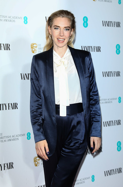More Pics of Vanessa Kirby Pantsuit (1 of 3) - Suits Lookbook - StyleBistro [suit,clothing,formal wear,tuxedo,outerwear,white-collar worker,blazer,event,pantsuit,long hair,red carpet arrivals,vanessa kirby,england,london,loscar hotel,vanity fair,ee,rising star party,the baptist,ee rising star party]
