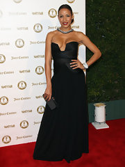 Dania Ramirez wore this strapless risque gown to the Vanity Fair anniversary party.