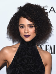 Nathalie Emmanuel attended the Toast to Young Hollywood event wearing her signature side-parted afro.