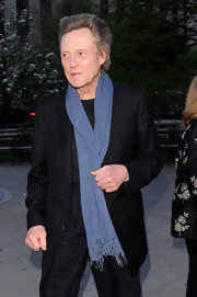 Actor Christopher Walken added a dapper dash of blue with this fine knit scarf at the 2011 Tribeca Film Festival.