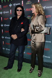 Shannon Tweed carried a fab chain-strap python purse at Variety's event.