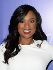 Jennifer Hudson wore her hair in a side part with pretty waves when she attended the Variety Power of Women event.
