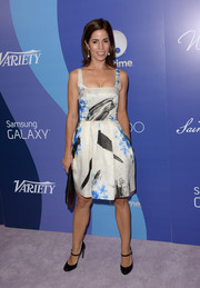 Ana Ortiz looked airy in a floral and brushstroke-print dress by Christopher Kane at the Variety Power of Women event.