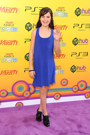 Bailee Madison stepped out at the Annual Power of Youth event wearing a simple day dress.