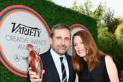 Honoree Steve Carell (L) and actress Julianne Moore attend Variety's Creative Impact Awards and