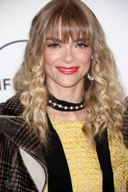 Jaime King attended Variety's Power of Women event wearing her hair in tight curls with eye-skimming bangs.