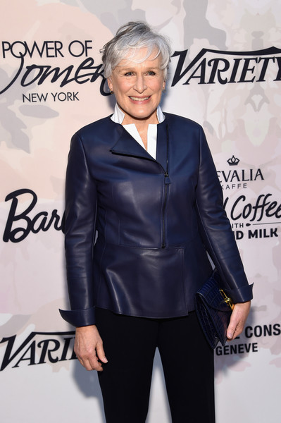 More Pics of Glenn Close Messy Cut (1 of 8) - Short Hairstyles Lookbook - StyleBistro [clothing,suit,fashion,leather,outerwear,premiere,jacket,electric blue,formal wear,textile,glenn close,arrivals,variety,power of women new york,new york city,cipriani 42nd street,power of women new york,lifetime]
