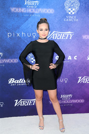Brec Bassinger looked very mature in a skintight LBD with fringed sleeves while attending Variety's Power of Young Hollywood event.