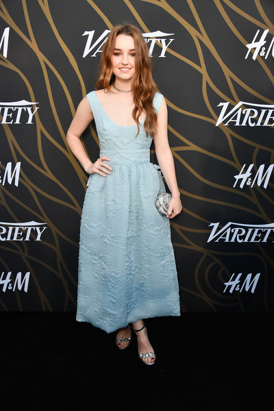 More Pics of Kaitlyn Dever Sterling Choker Necklace (1 of 4) - Choker Necklace Lookbook - StyleBistro [clothing,dress,premiere,shoulder,fashion,cocktail dress,carpet,joint,footwear,event,variety power of young hollywood - arrivals,tao hollywood,los angeles,california,kaitlyn dever]