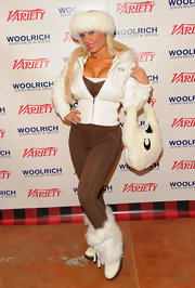 Coco kept up the fur theme all the way down to her white snow boots when she attended the 2012 Sundance Film Festival.