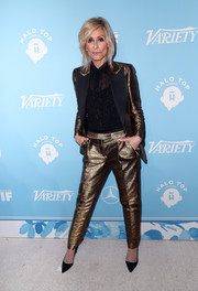Judith Light shimmered in a gold pantsuit at the Variety and Women in Film pre-Emmy celebration.