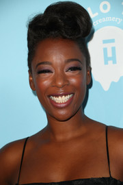 Samira Wiley hit the Variety and Women in Film pre-Emmy celebration rocking this funky pompadour.