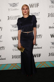 Rumer Willis gave us vintage vibes with this black silk gown at the Variety and Women in Film pre-Emmy celebration.