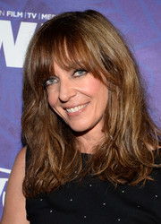 Allison Janney rocked disheveled waves with wispy bangs at the Variety and Women in Film Emmy nominee celebration.