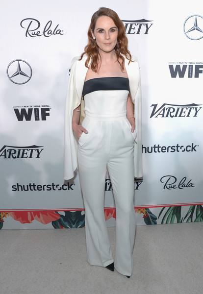 Michelle Dockery in Elie Saab at Variety and Women in Film's Pre-Emmy Celebration
