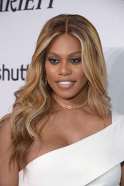Laverne Cox attended the Variety and Women in Film pre-Emmy celebration wearing her hair in mermaid waves.